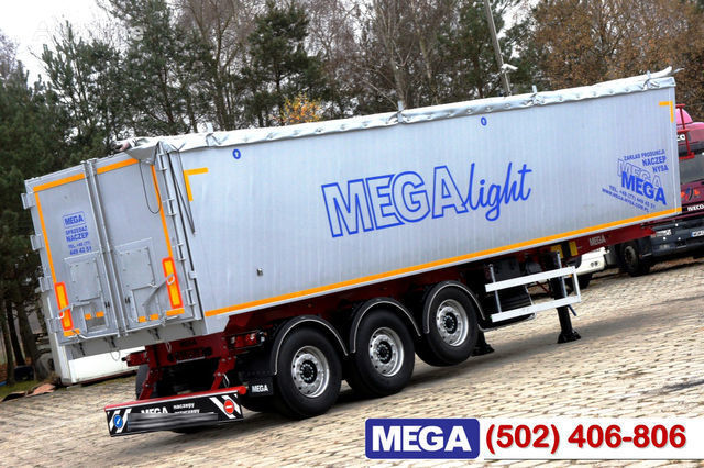 новый полуприцеп зерновоз KARGOMIL 42 - 45 m³ Alubox - ULTRA - light only 5,800 kg weight ! READY T