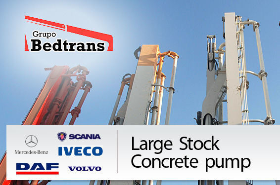 автобетононасос PUTZMEISTER THE BEST STOCK THE CONCRETE PUMPS IN SPAIN BEDTRANS